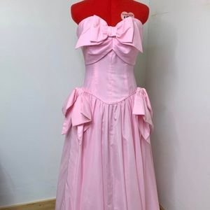 1980s Pink Day Dream Ball Gown Prom Dress!